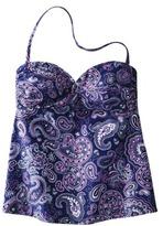 Converse One Star® Women's Twist Tubini Swim Top - Blue