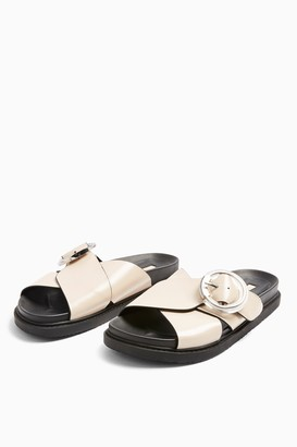 Topshop PEDRO Stone Footbed Sandals