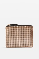 Topshop Gold Chainmail Zip Top Purse