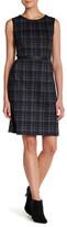 Joe Fresh Plaid Faux Leather Trim Sleeveless Dress