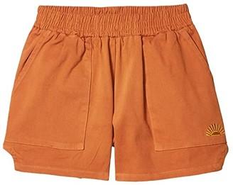 Tiny Whales Sun Daze Shorts (Toddler/Little Kids/Big Kids) (Rust) Girl's Shorts
