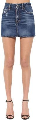 DSQUARED2 Medium Clean Wash Denim Mini Skirt