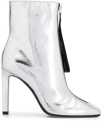 Jimmy Choo metallic heeled boots