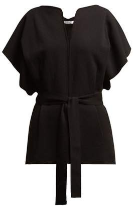 Givenchy Knitted Kimono-sleeve Belted Top - Womens - Black