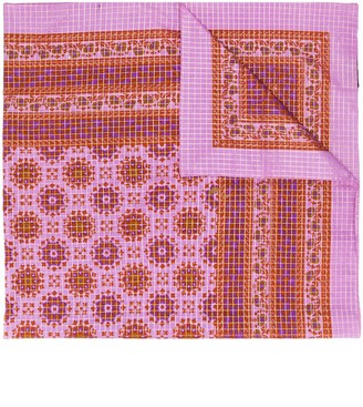 Yves Saint Laurent Pre-Owned Check And Paisley Print Shawl