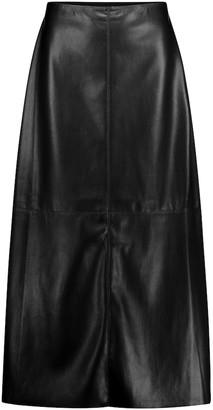 Nanushka Zayra faux leather midi skirt