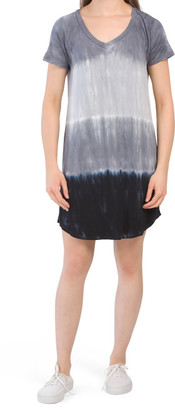 Tie Dye Knit V-neck Dress