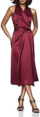 Reiss Moa Draped Wrap Dress
