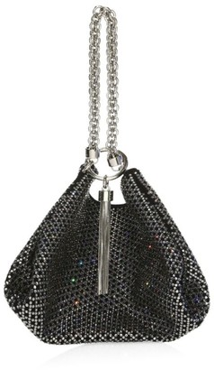 Jimmy Choo Callie Tassel Embellished Suede Clutch