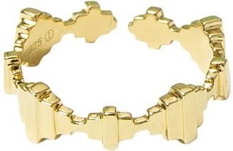 Jewel Tree London Baori Solid Ring Gold Vermeil