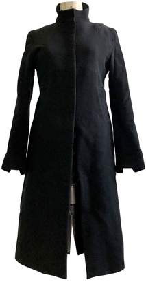 CNC Costume National Black Wool Coat for Women Vintage
