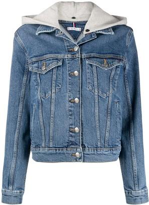 Tommy Hilfiger Removable-Hood Denim Jacket