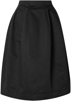 Marni Cotton And Linen-blend Twill Midi Skirt