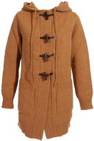 Hooded duffle cardigan