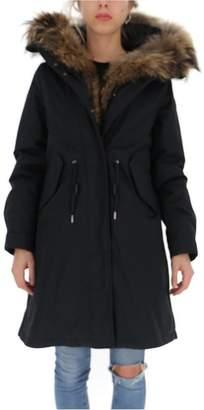 Woolrich Hooded Drawstring Waist Parka Coat