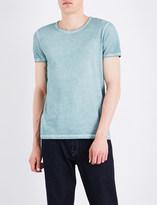 BOSS ORANGE Faded-seam cotton t-shirt