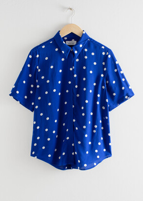 And other stories Collared Relaxed Fit Satin Shirt