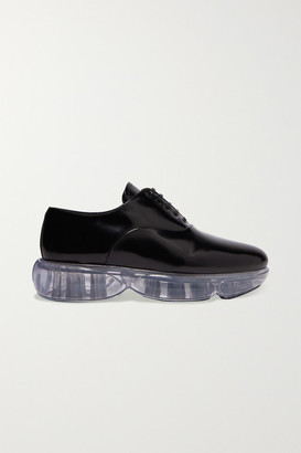 Prada Cloudbust Leather And Rubber Sneakers - Black
