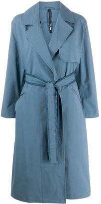 Sara Lanzi Long Sleeve Belted Trench Coat