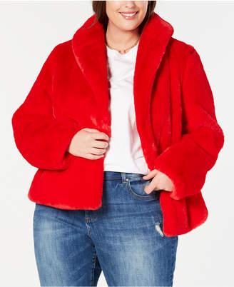 INC International Concepts Inc Plus Size Faux-Fur Teddy Coat