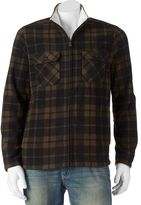 Croft & Barrow Big & Tall Classic-Fit Plaid Arctic Fleece Jacket