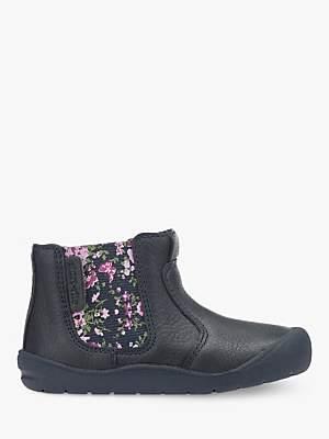 Start Rite Start-rite Children's Leather First Chelsea Boots, Navy
