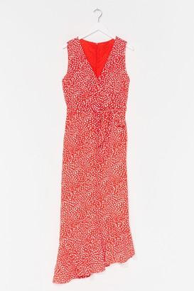 Nasty Gal Womens Dotta Lotta Love Wrap Midi Dress - Orange - 14, Orange