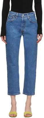 Levi's Levis Blue 501 Original Cropped Jeans