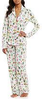 PJ Salvage Tropical Jersey Pajamas & Sleep Mask