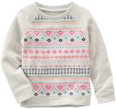 Osh Kosh Girls 4-8 Geometric French Terry Sweatshirt
