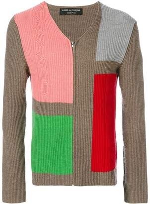 Comme des Garcons Pre-Owned colour-block knitted top