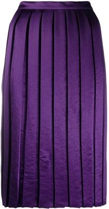 Plan C Satin Pleat Skirt
