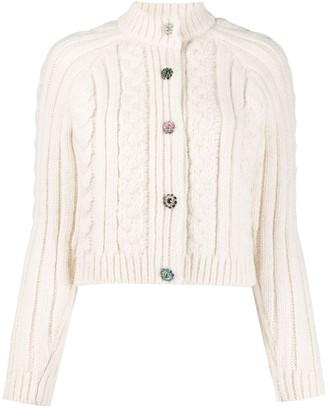 Ganni Crystal-Embellished Buttons Cardigan