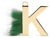 Fendi ABClick letter 'K' key charm