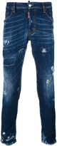 DSQUARED2 Skater distressed whisker jeans - men - Cotton/Polyester/Spandex/Elastane - 42