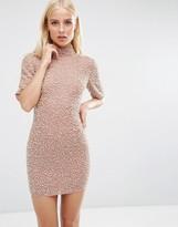 Asos Premium Pearl Scatter Mini Bodycon Dress