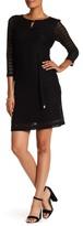 Sandra Darren 3/4 Length Sleeve Knit Dress