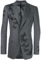 Alexander McQueen moth embroidered blazer - men - Viscose/Virgin Wool - 52