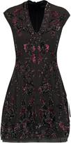Needle & Thread Rose embellished chiffon mini dress