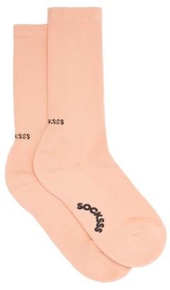 Socksss - Cherry Peach Cotton-blend Socks - Orange
