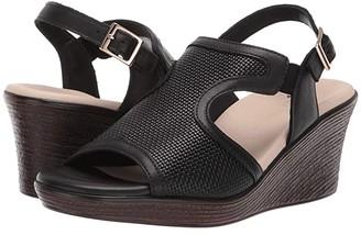 SAS Rosa (Woven Black) Women's Sandals