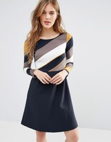 Traffic People Beware Double Take Dress With Stripe Top