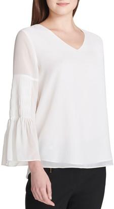 Calvin Klein Collection Bell-Sleeve Blouse