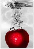 "KitchenArt ""Red Apple Splash"" Canvas Wall Art by Roderick Stevens"