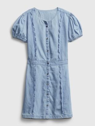 Gap Kids Scalloped Denim Dress