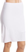 Joan Vass White Light Compression Seamless Long-Leg Half Slip - Plus Too