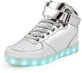 SAGUARO 8 Colors LED Light-Up Couple Women's Men's Sport Shoes Sneakers USB Charging for Valentine's Day Christmas Halloween