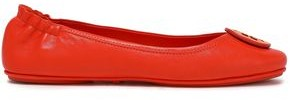 Tory Burch Logo-embellished Leather Ballet Flats