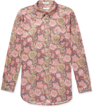Engineered Garments Button-Down Collar Floral-Print Cotton Shirt