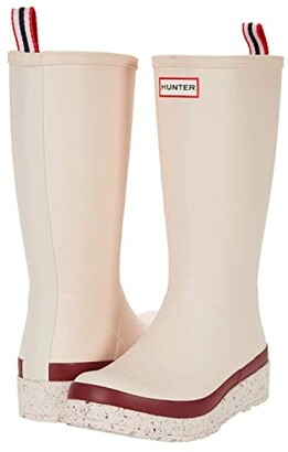 Hunter Play Tall Speckle Sole Wellington Boots (Moonstone Pink/Autumn Stone) Women's Shoes